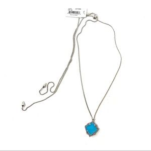 NWT Kendra Scott Kacey Necklace in Aqua Chalcedony